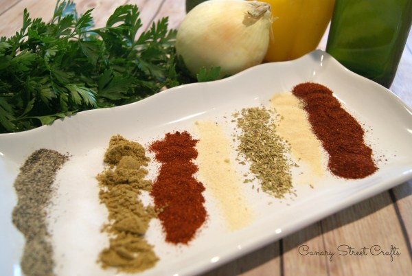Homemade Taco Seasoning.  So much better than prepackaged, and simple to make!!  -canarystreetcrafts.com