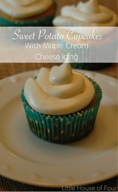 Sweet Potato Cupcakes with Maple Cream Cheese Frosting from {Little House Of Four}