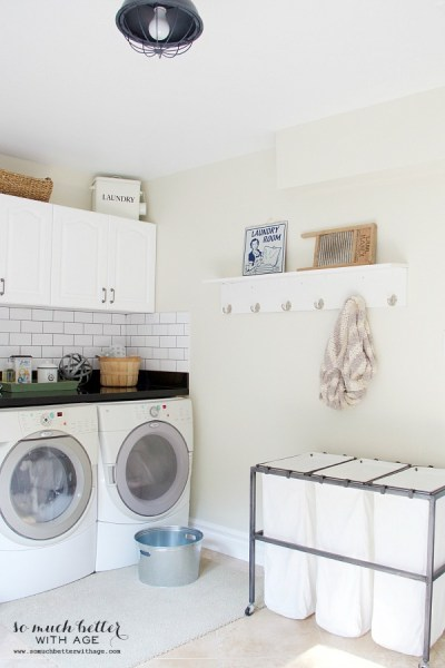Laundry Room Makeover {So Much Better With Age}