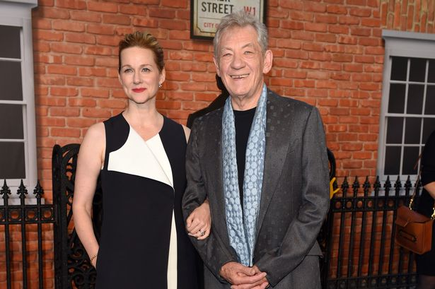 Laura Linney and Sir Ian McKellen at the London premiere of Mr Holmes