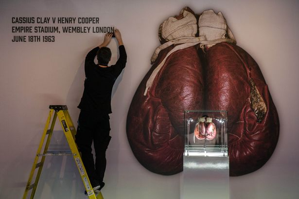 The split gloves at the Muhammad Ali exhibition at The O2