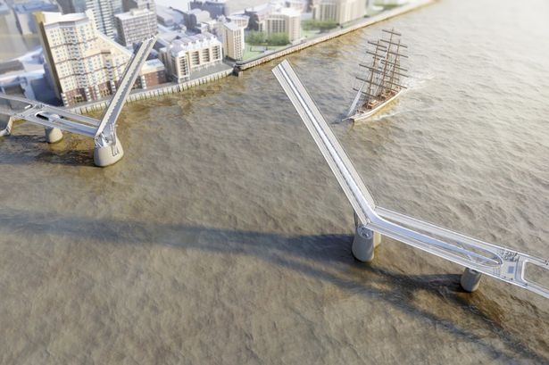 Artist's impression of how the bridge could look (Pic: reFORM)