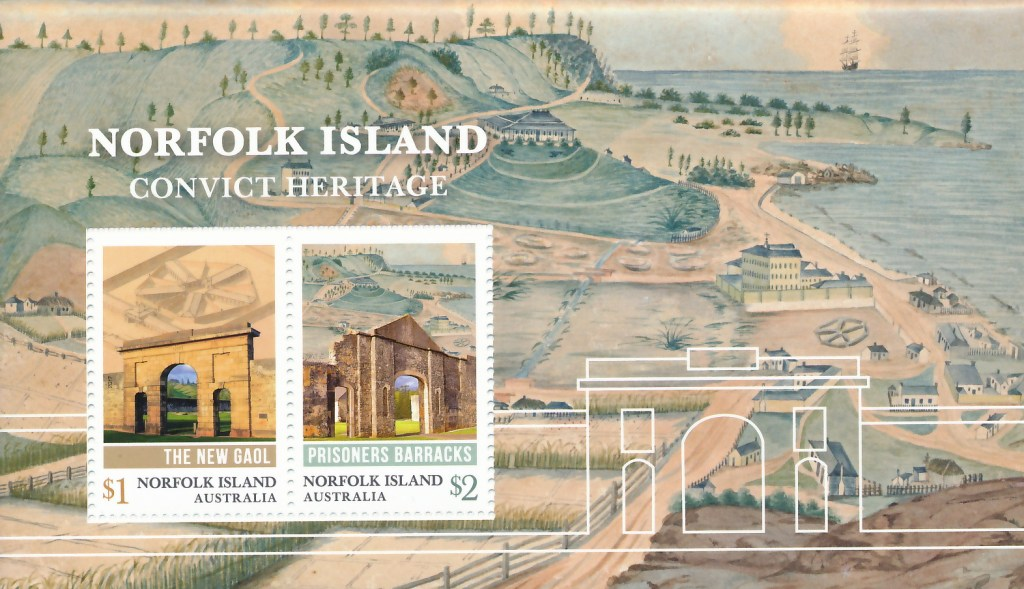 Norfolk Island Convict Heritage M/S (100 overprinted & numbered)