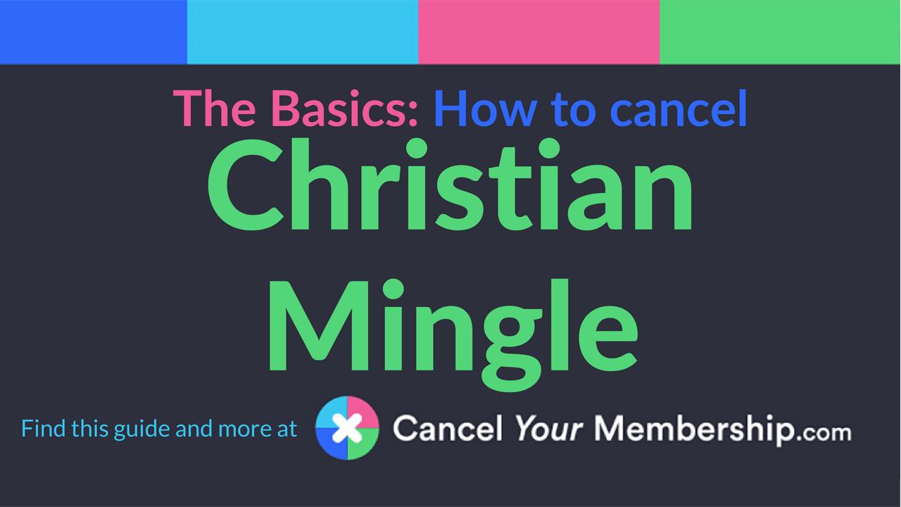 Cancel christian mingle