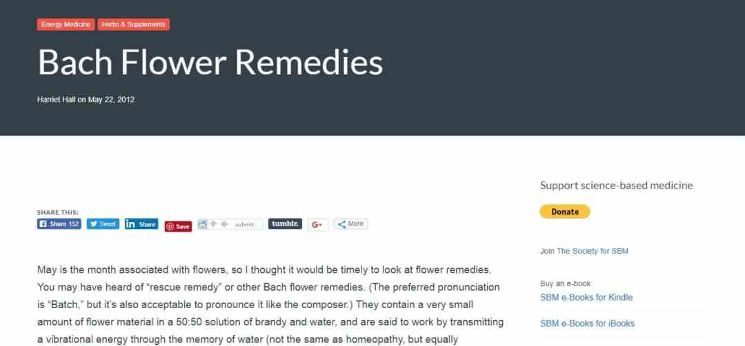 Bach Flower Remedies - article 1