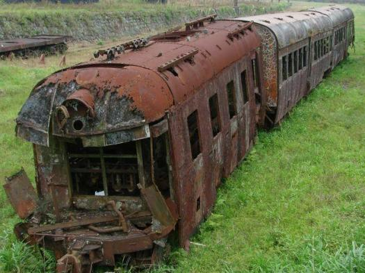 """A train car left to rot in a train yard. What causes it to disintegrate? Can we use the same principle to """"disintegrate"""" the heavy metals causing cancer in our body?"""