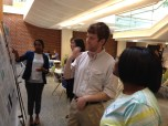 Trainee David Irvin presenting a poster