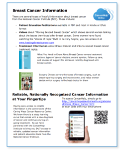 Flyer with Breast Cancer Info from Essentia Health
