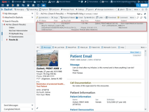 Patient Email request from EMR