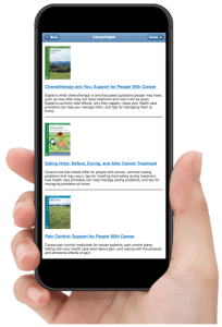iPhone showing Ebooks and Treatment publications