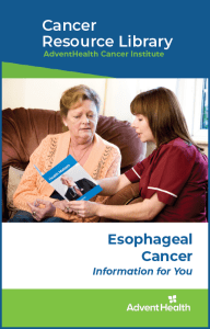 Espphageal cancer booklet cover