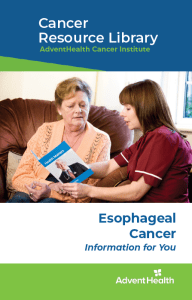 Esophageal cancer booklet cover
