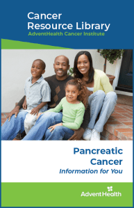 Pancreatic cancer booklet cover