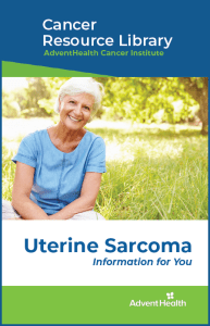 Uterina sarcoma booklet cover