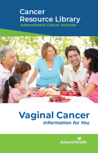 Vaginal cancer booklet cover