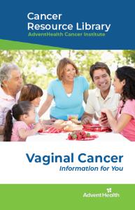 Vaginal cancer booklet cover