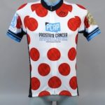 picture of the Cancer Journeys Foundation King of the Mountain cycling jersey