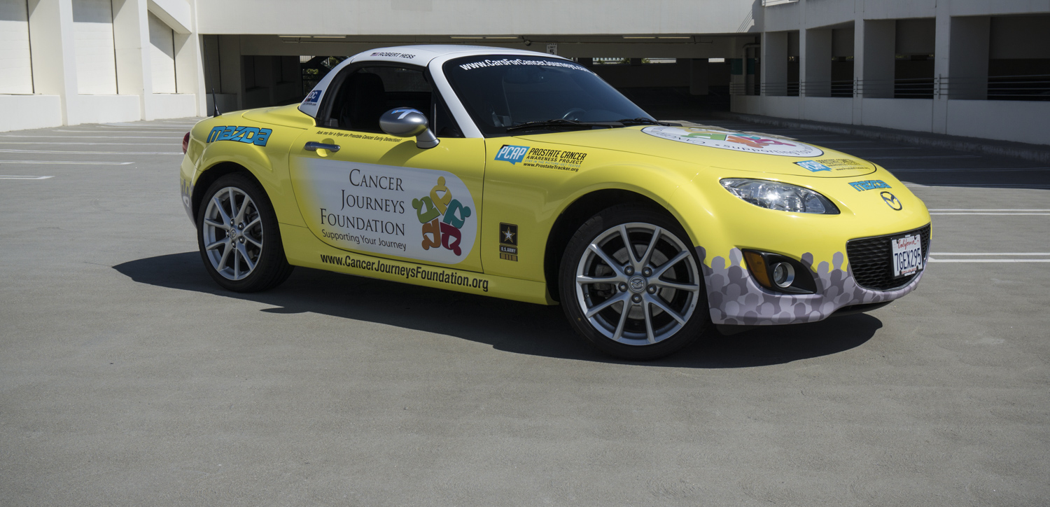 a picture of the Cancer Journeys Foundation's Mazda MX-5 Miata