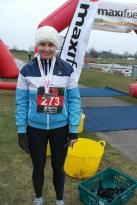My first achievement for 2013. It snowed during the race.