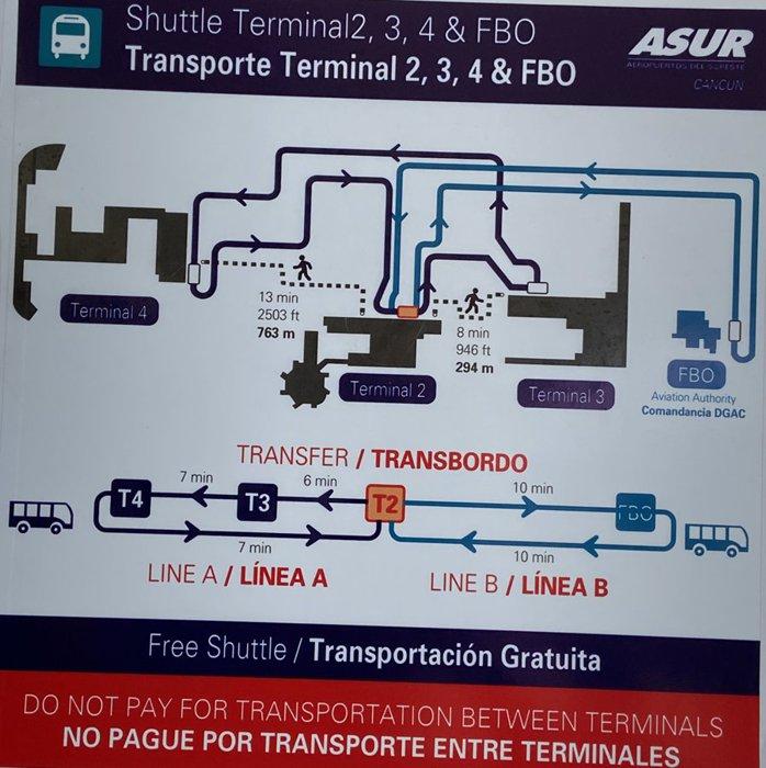 Cancun Airport Shuttle Route