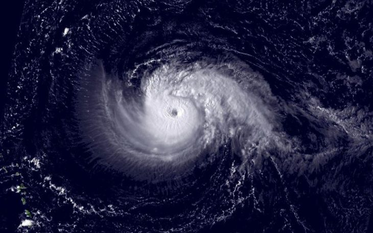 Tropical cyclone from space