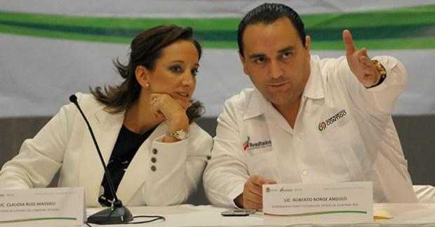Roberto Borge y la secretaria de turismo