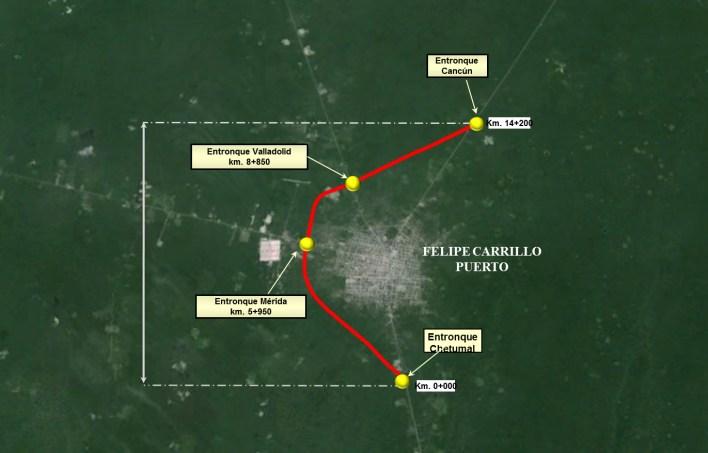 Libramiento Felipe Carrillo Puerto.