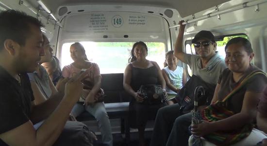 pasajeros combis playa del carmen