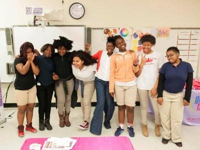 Girls at Girl Talk Foundation