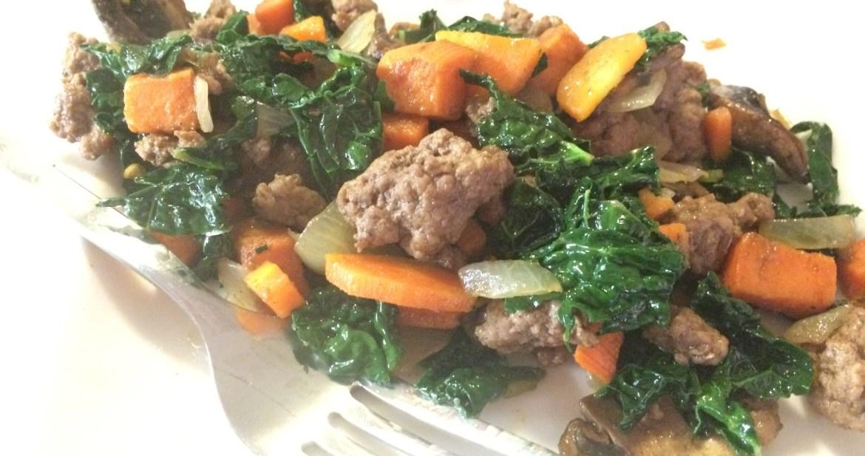 lamb and sweet potato hash