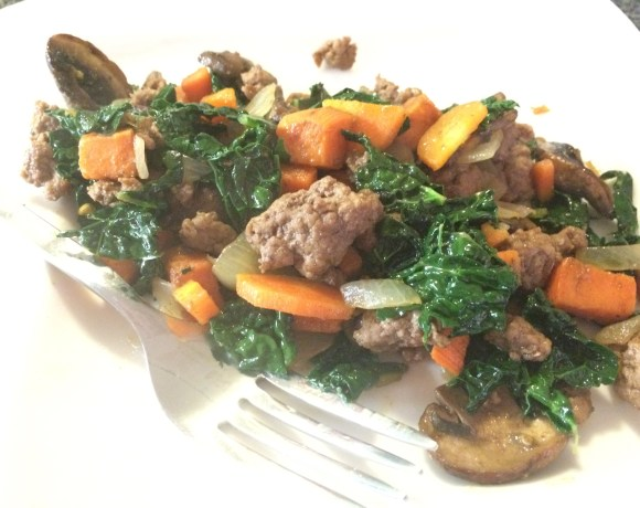 lamb and sweet potato hash