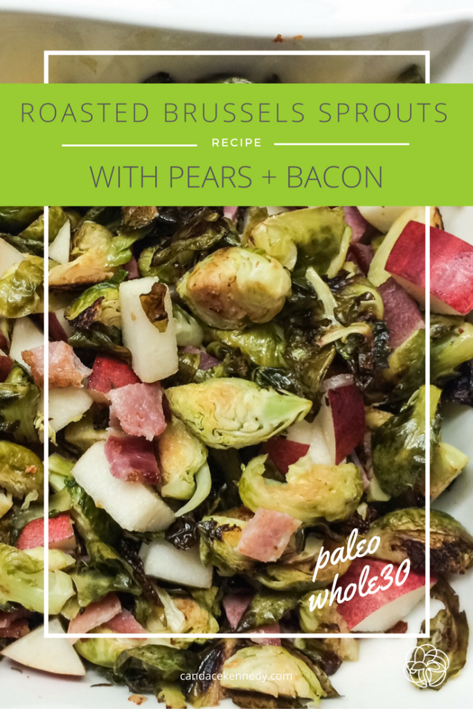 brussels sprouts with pears and bacon