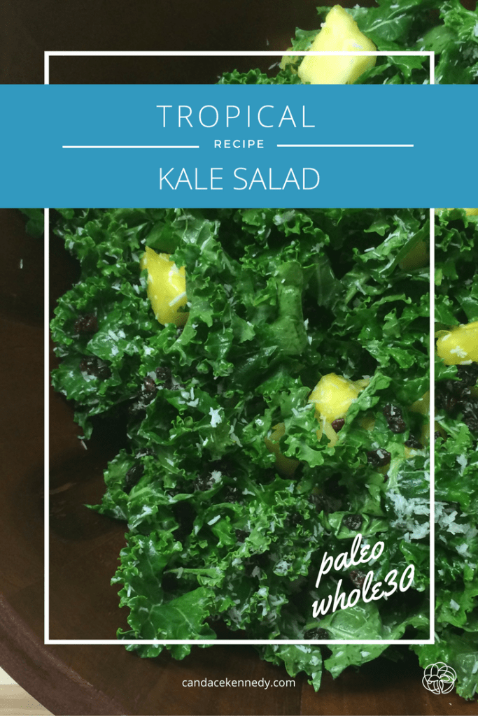 tropical kale salad