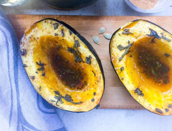 RECIPE: Maple Roasted Acorn Squash | Paleo | by Candace Kennedy