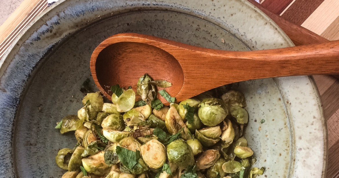 Dijon Roasted Brussels Sprouts   Paleo, Whole30, Low-Carb