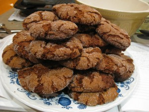 A plate of ginger cookies!