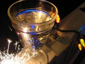 Midnight 2008: Sparklers, champagne, Ganesh, money
