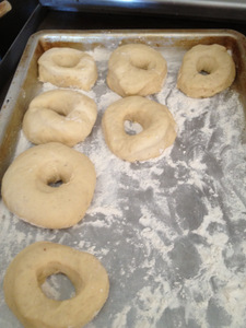 Donuts rising for the second time