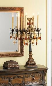 Bronze and Gold crystal Candelabra