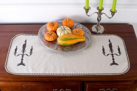 Halloween Candelabra Table Runner