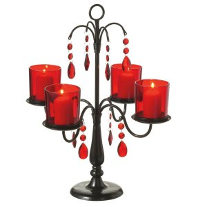 Red and Black Votive Candelabra