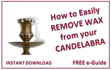How to remove wax from a candlestick holder or Candelabra