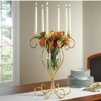 Gold Scroll Centerpiece