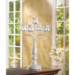 set of 10 Bejeweled Standing Candelabra Candle Holder
