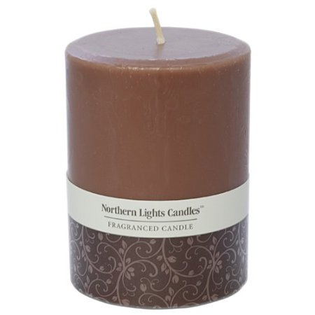 3 by 4-Inch Pillar Candle chocolate hazelnut scented