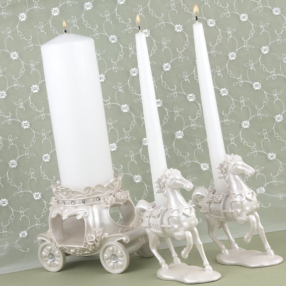 fairytale Wedding Unity Candle holder candelabra