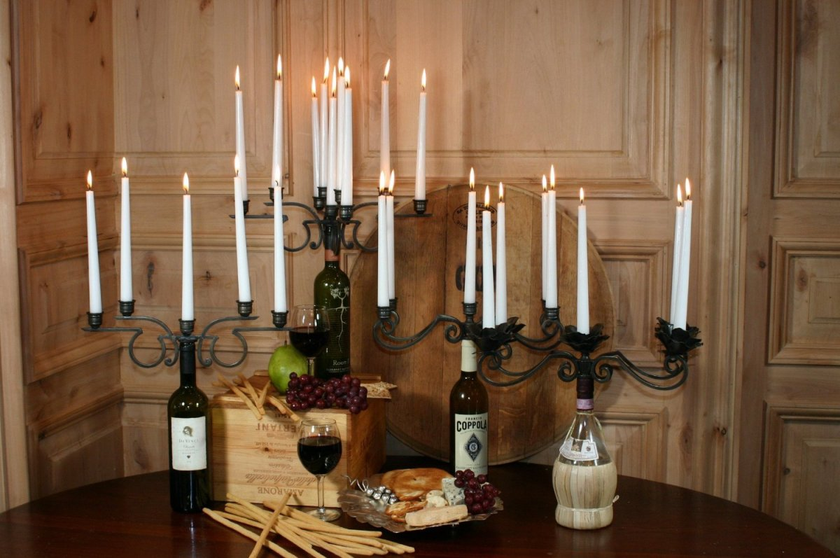 Wine Bottle Candelabra Centerpiece