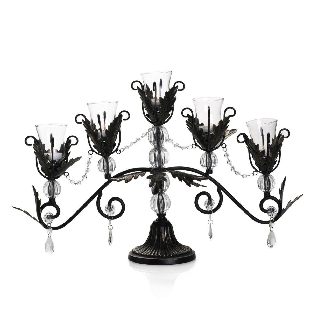 Black Leaf Metal Candelabra