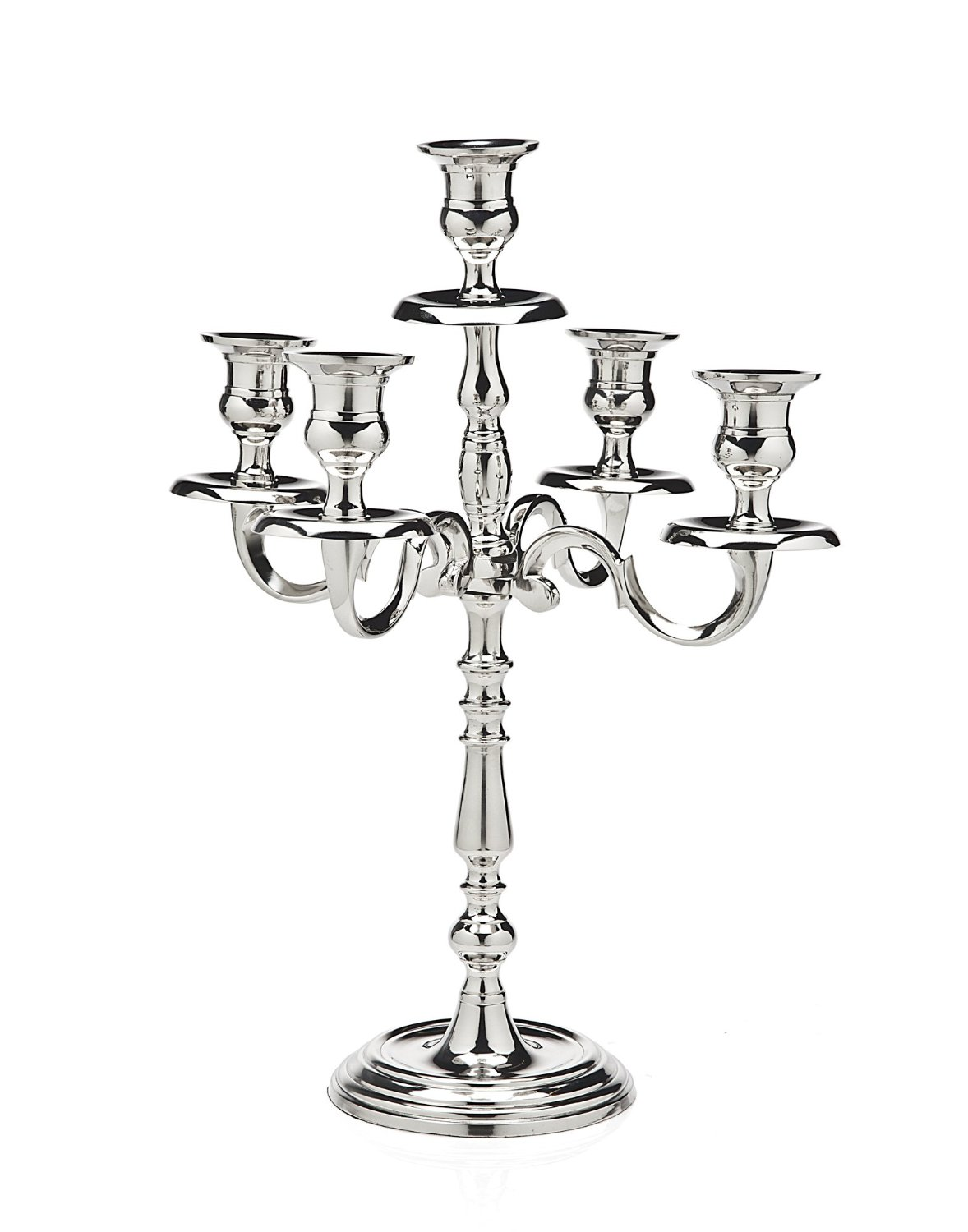 Affordable nickle plated candelabra