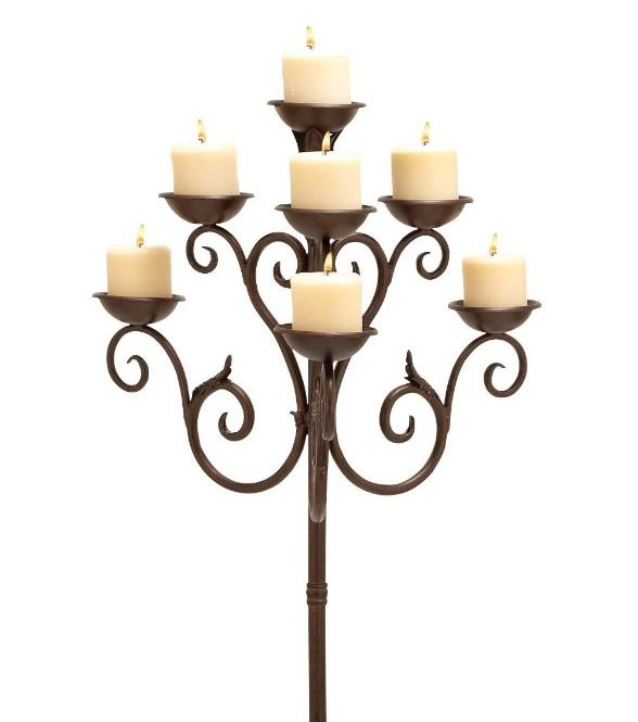 Copper Brown Floor Candelabra